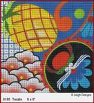6185 Tecate Baja 8 x 8 Leigh Designs 18 Count Canvas