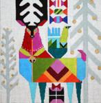 H240 Melissa Prince 10 x 10 Abstract Reindeer