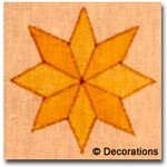 DC-99	Star Ornament 	4x4	18  Mesh DECORATIONS