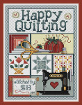 11-1137 Happy Quilting 123 x 94 Sue Hillis Designs