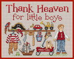 10-1306 Thank Heaven For Little Boys  100 x 124 Sue Hillis Designs