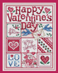 11-1136 Happy Valentine's Day 123 x 94 Sue Hillis Designs