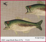 4320 Leigh Designs Large Mouth Bass And Fry 18 Count Canvas