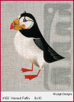 4183 Leigh Designs Horned Puffin 18 Count Canvas
