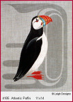 4185 Leigh Designs Atlantic Puffin 18 Count Canvas