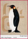 4184 Leigh Designs King Penguin 18 Count Canvas