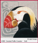 4188 Leigh Designs Crested Puffin 18 Count Canvas