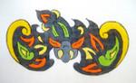D-62 Bat Ornament 4x718 Mesh DECORATIONS