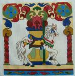 D-85 Carousel Horse #1 12x1213 Mesh DECORATIONS