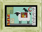 CN0105 Sheep-Crow Sampler Cross Stitch Kit  KELLY CLARK Designs