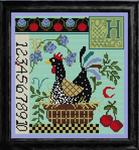 CN0107 Hen On A Nest Sampler Cross Stitch Kit KELLY CLARK Designs