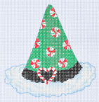 LD-20 Peppermint Hat  With stitch guide 3 ½ x 3 ½ 18 Mesh LAINEY DANIELS