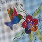 LB-59 Hummingbird With stitch guide 6 ½ x 6 ½ 18 Mesh Danji Designs LAUREL BURCH