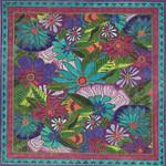 LB-137 Lavender Floral 14x14 18 Mesh Danji Designs LAUREL BURCH