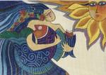 LB-136       Mermaid         14x10  18 Mesh Danji Designs LAUREL BURCH
