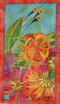 LB-130 Tropical Floral  8 1⁄2 x 14  18 Mesh Danji Designs LAUREL BURCH