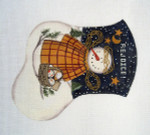 LK-08 Snow Angel With Stitch Guide 5 ½ x 6 ½ 18 Mesh LAURIE KORSGADEN
