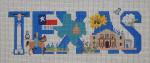 MMW-17 Texas With Stitch Guide 16 ½ x 6 ½ 13 Mesh MARY MARGARET WALDOCK