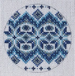 "TM-27 Blue/White/Silver Round  3"" Round 18 Mesh TANYA MERTEL Danji Designs"