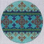 """TM-22 Geometric Round 3"""" Round 18 Mesh TANYA MERTEL Danji Designs"""
