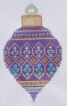 TM-21 Purple Snowflake Bulb   2 3⁄4x 4 1/2  18 Mesh TANYA MERTEL Danji Designs