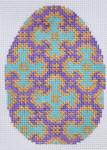 TM-17  Blue and Purple Egg  2 3⁄4x 4 18 Mesh TANYA MERTEL Danji Designs