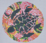 "LN-06 Sea Turtle Ornament 4"" Round 18 Mesh ELLE B DESIGNS Danji Designs"
