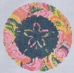 "LN-04 Sand Dollar Ornament   4"" Round 18 Mesh ELLE B DESIGNS Danji Designs"