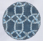 "LN-09 Knots Ornament 4"" Round 18 Mesh ELLE B DESIGNS Danji Designs"