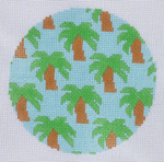 "LN-13 Palm Trees Ornament 4"" Round 18 Mesh ELLE B DESIGNS Danji Designs"