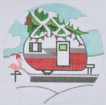 "ZIA-05 Christmas Campervan 4"" Round 18 Mesh ZIA DESIGNS Danji Designs"