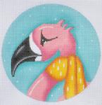 """ZIA-11 Flamingo Ornament  4"""" Round 18 Mesh ZIA DESIGNS Danji Designs"""