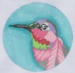 "ZIA-12 Hummingbird Ornament  4"" Round 18 Mesh ZIA DESIGNS Danji Designs"