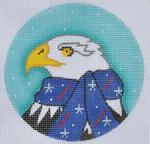 """ZIA-15 Bald Eagle Ornament  4"""" Round 18 Mesh ZIA DESIGNS Danji Designs"""
