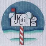 """ZIA-48  Letters to Santa Ornament 4"""" Round 18 Mesh ZIA DESIGNS Danji Designs"""