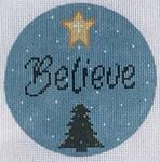 """ZIA-44 Believe Ornament 4"""" Round 18 Mesh ZIA DESIGNS Danji Designs"""