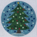 "ZIA-43 Christmas Tree Ornament 4"" Round 18 Mesh ZIA DESIGNS Danji Designs"
