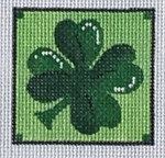 ZIA-34  Shamrock Pocket Project  2x2 18 Mesh ZIA DESIGNS Danji Designs