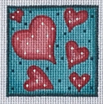 ZIA-33 Valentine Pocket Project   2x2 18 Mesh ZIA DESIGNS Danji Designs