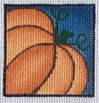 ZIA-32  Fall Pumpkin Pocket Project  2x2 18 Mesh ZIA DESIGNS Danji Designs