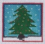 ZIA-29 Christmas Tree Pocket Project  2x2 18 Mesh ZIA DESIGNS Danji Designs