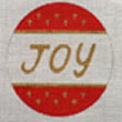 "133a Joy ornament 4"" round 18 Mesh Map Designs"