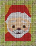 151I  Santa Face 4x5 13 Mesh Map Designs
