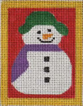 151n Snowman with scarf  W/STITCH GUIDE  3.5 x 4.5 13 Mesh Map Designs