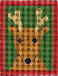 151p Reindeer  W/STITCH GUIDE  3.5 x 4.5 13 Mesh Map Designs