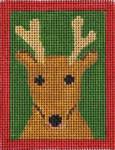 151p Reindeer  W/STITCH GUIDE  3.5 x 4.5 13 Mesh Map Designs