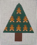 151r Gingerbread Tree W/STITCH GUIDE  3.5 x 4.5 13 Mesh Map Designs