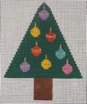 151s Ornaments Tree W/STITCH GUIDE  3.5 x 4.5 13 Mesh Map Designs