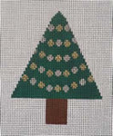 151t Garland Tree W/STITCH GUIDE  3.5 x 4.5 13 Mesh Map Designs
