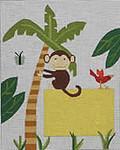 162 Monkey Birth Sampler 8x10 13 Mesh Map Designs